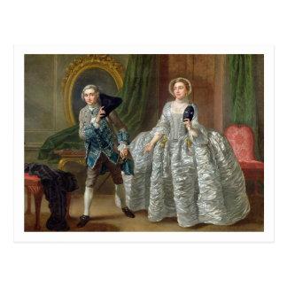 David Garrick and Mrs Pritchard in 'The Suspicious Postcard