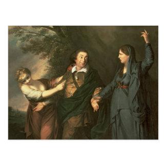 David Garrick  between the Muses of Tragedy Postcard