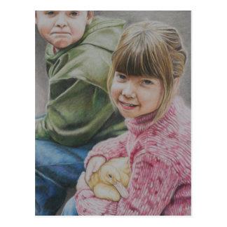 David & Haley Original Art Postcard