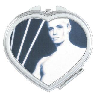 David - Heart Compact Mirror