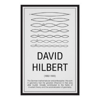 David Hilbert Poster