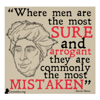David Hume Quote Poster