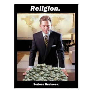 David Miscavige Scientology Meme Postcard