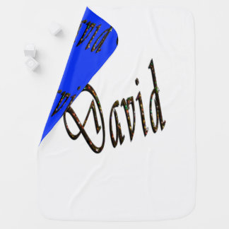 David Name Logo, Baby Blanket