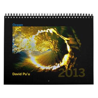 David Pu'u 2013 Calendar: Ocean Wall Calendar
