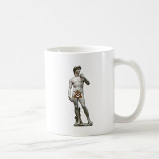 David Statue with Poop Coffee Mug
