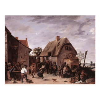 David Teniers the Younger- Flemish Kermess Postcard