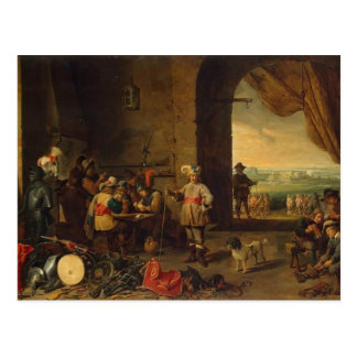 David Teniers the Younger- Guardroom Postcard