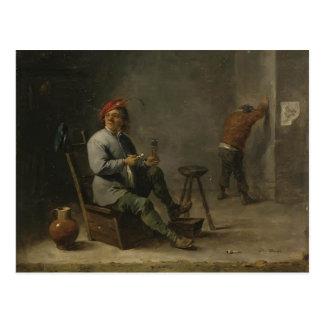 David Teniers the Younger- Smoker Postcard