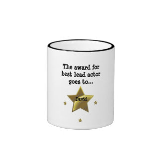 DAVID The Award For Best Lead Actor Coffee Mug