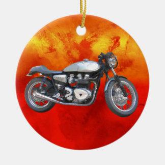 David Vasquez Motorcycle Ceramic Ornament