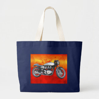 David Vasquez Motorcycle Large Tote Bag