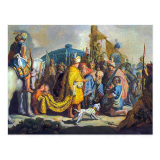 David with Goliath before Saul by Rembrandt Postcard