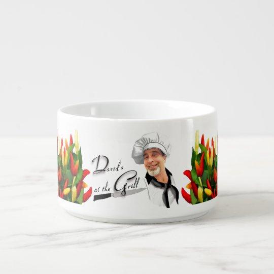 """David's At The Grill"" Chili Plants Chili Bowl"