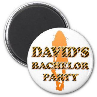 David's Bachelor Party Fridge Magnets
