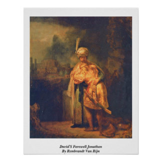 David'S Farewell Jonathan By Rembrandt Van Rijn Poster