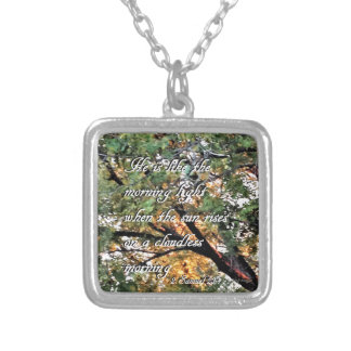 David's Last Song Silver Plated Necklace