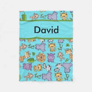 David's Personalized Jungle Blanket