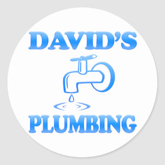 David's Plumbing Classic Round Sticker