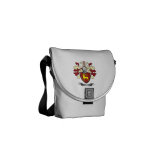 Davidson Family Crest Coat of Arms Messenger Bags