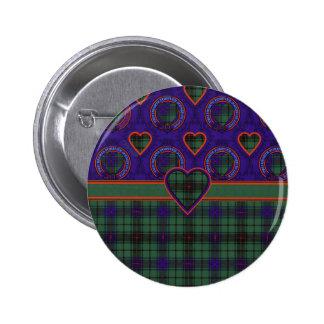 Davidson Scottish Tartan 2 Inch Round Button