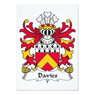 Davies Family Crest Card