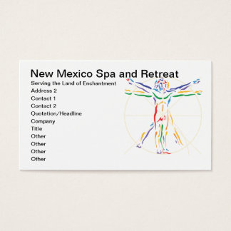 DaVinci Anatomy Man in Chakra Colors Business Card