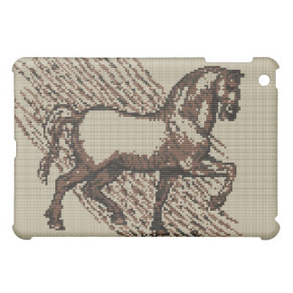 DAVINCI HORSE Cross Stitch Design Cover For The iPad Mini