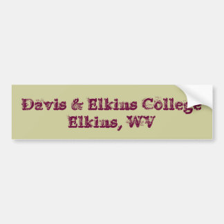Davis and Elkins College Bumper Sticker