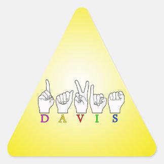 DAVIS ASL FINGERSPELLED NAME SIGN TRIANGLE STICKER