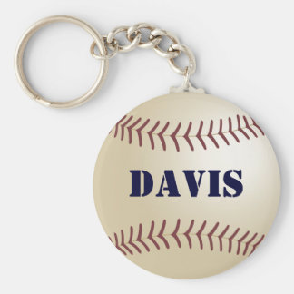 Davis Baseball Keychain by 369MyName