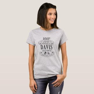 Davis, California 100th Anniversary 1-Color TShirt