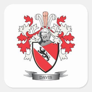 Davis Coat of Arms Square Sticker