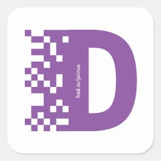 Davis data science club stickers! square sticker