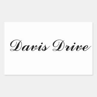 Davis Drive Sticker
