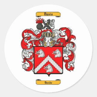 Davis (English) Round Sticker