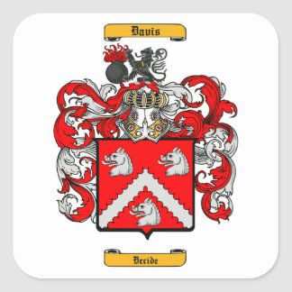 Davis (English) Square Sticker