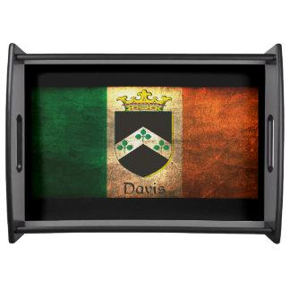 Davis Family Irish Flag Serving Tray
