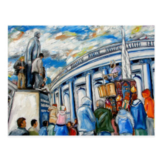davis monument dame street dublin postcard