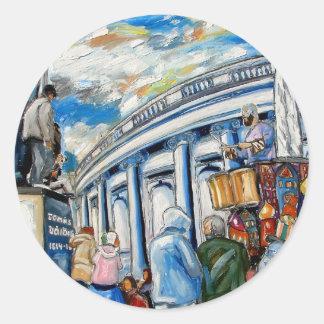 davis monument dame street dublin round sticker