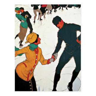 Davos Switzerland Winter Vintage Postcard