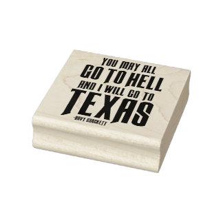 Davy Crockett Texas Sentiment Rubber Art Stamp