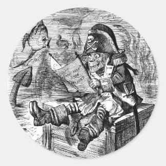 Davy Jones' Locker Round Sticker