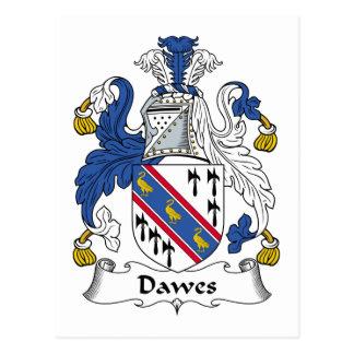 Dawes Family Crest Postcard