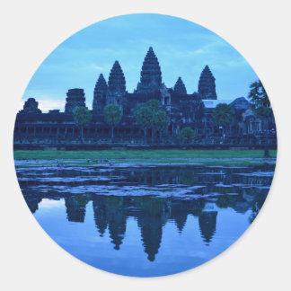 Dawn at Angkor Wat Classic Round Sticker