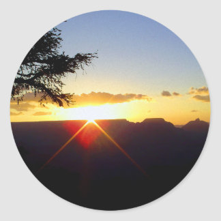 Dawn at Grand Canyon Classic Round Sticker