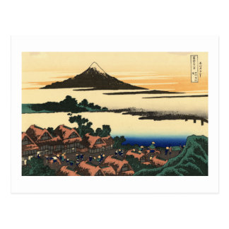 Dawn at Isawa in Kai Province Postcard