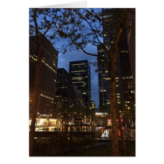 Dawn at Rockefeller Center New York City NYC Photo Card