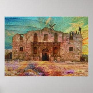 Dawn At The Alamo Poster