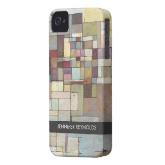 Dawn Beach Lattice Abstract Art iPhone 4 Case